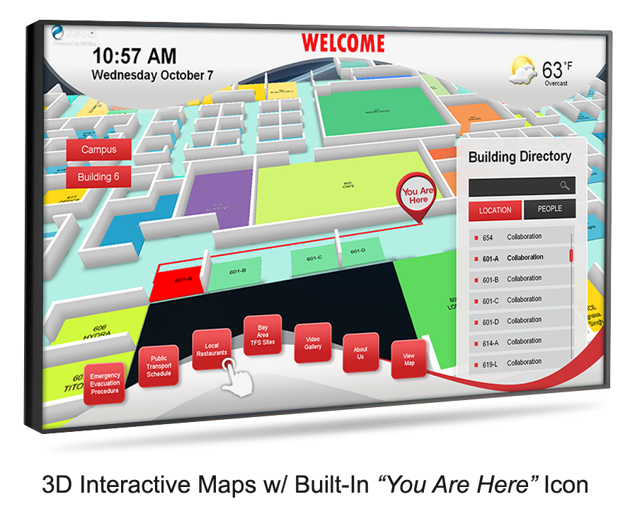 Digital Signage, Touchscreen Applications, And Wayfinding
