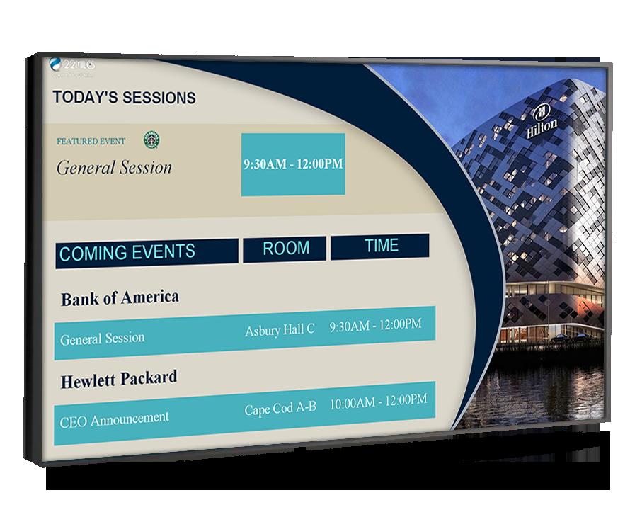 hotel event board digital signage