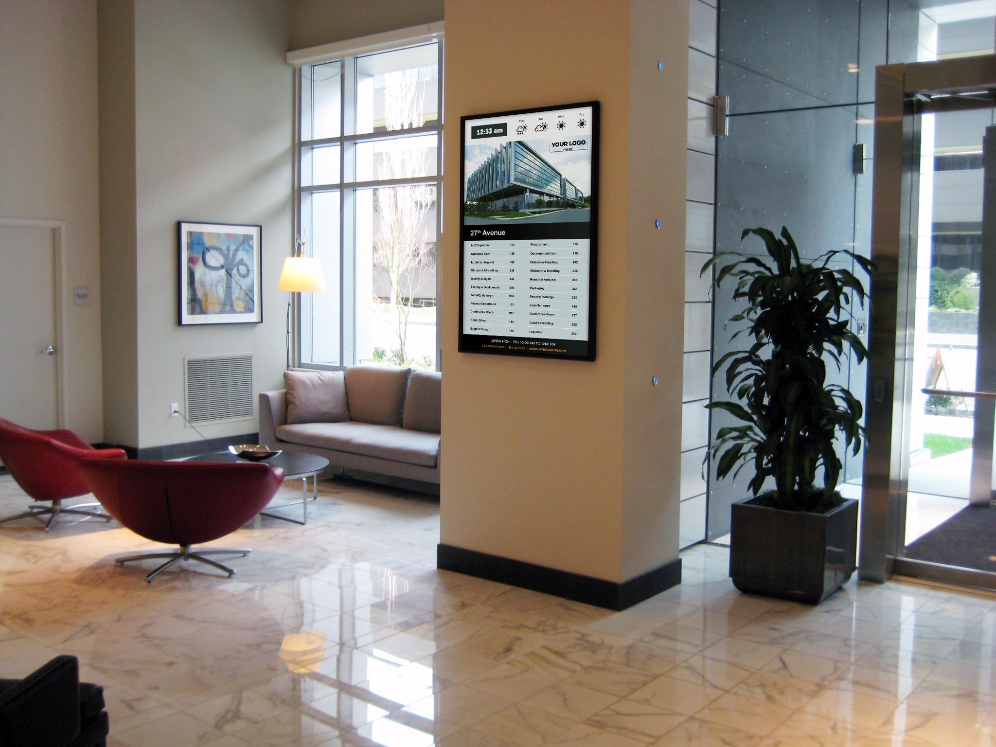 lobby building digital directory