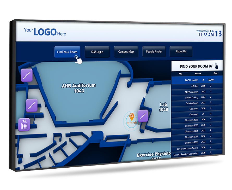 touchscreen wayfinding directory new york city ny
