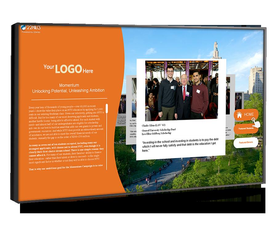 touchscreen college digital signage miami fl