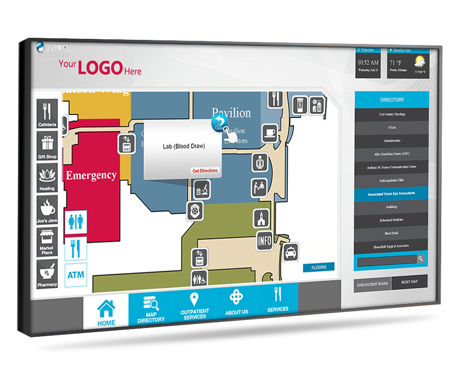 interactive wayfinding digital signage
