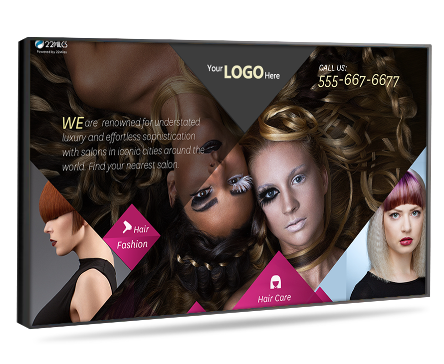 digital signage for hair salons
