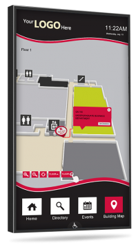 touchscreen college wayfinding digital signage