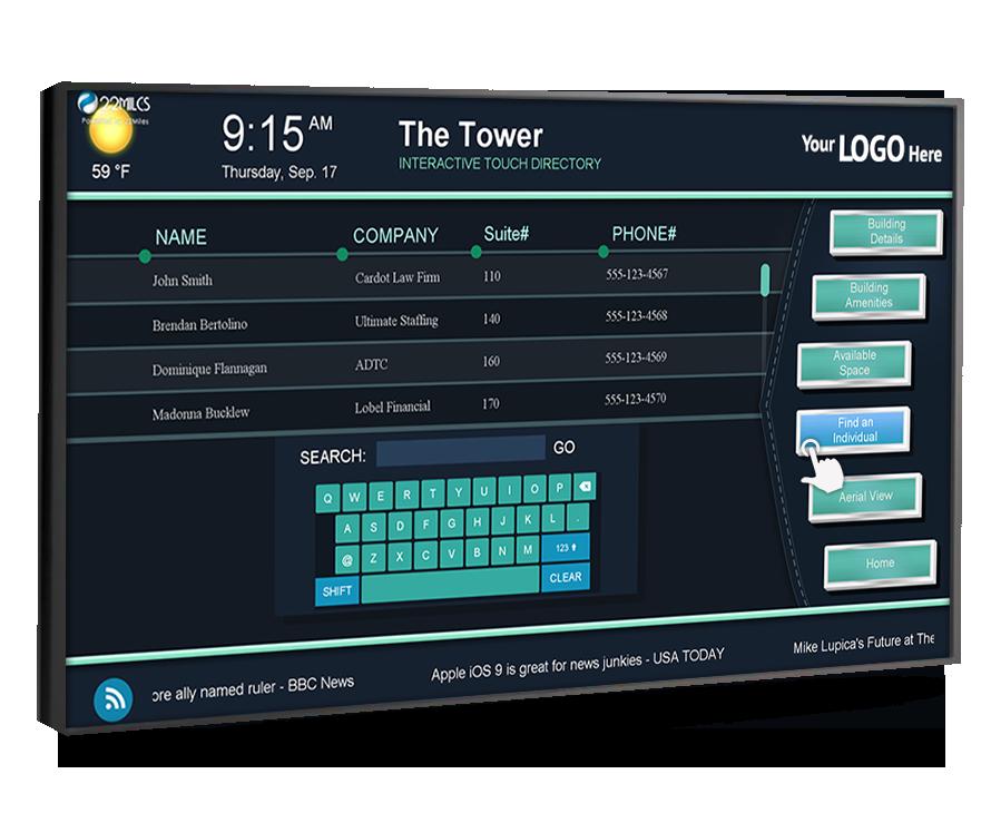 Touchscreen Digital Directory