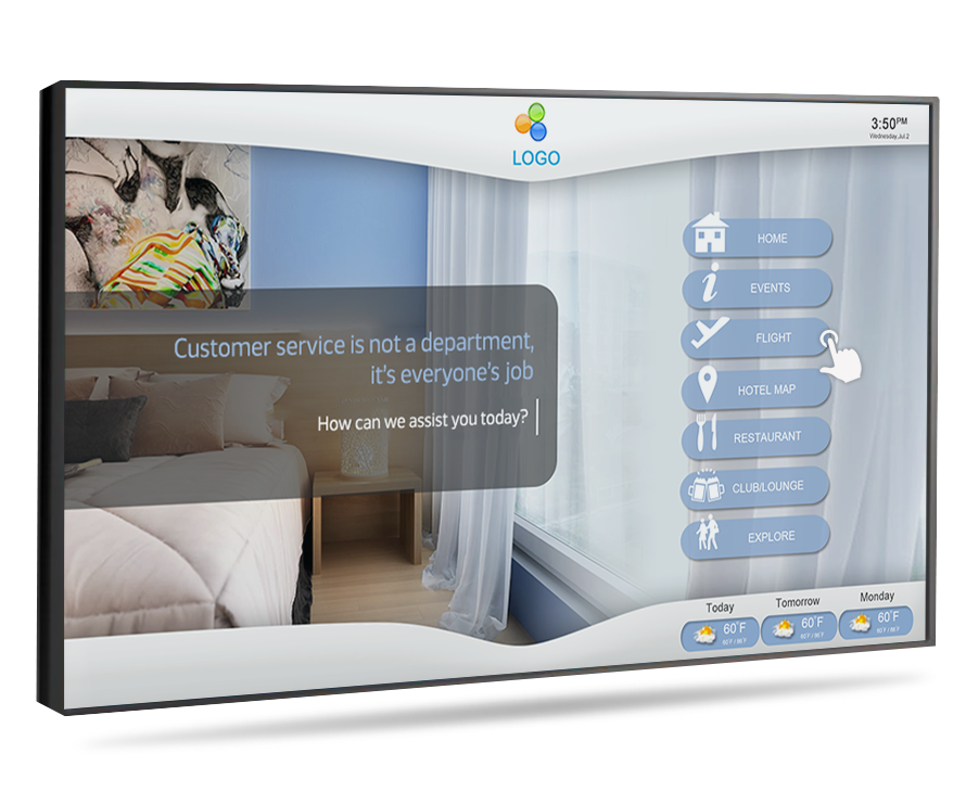 Touchscreen Hotel Lobby Display