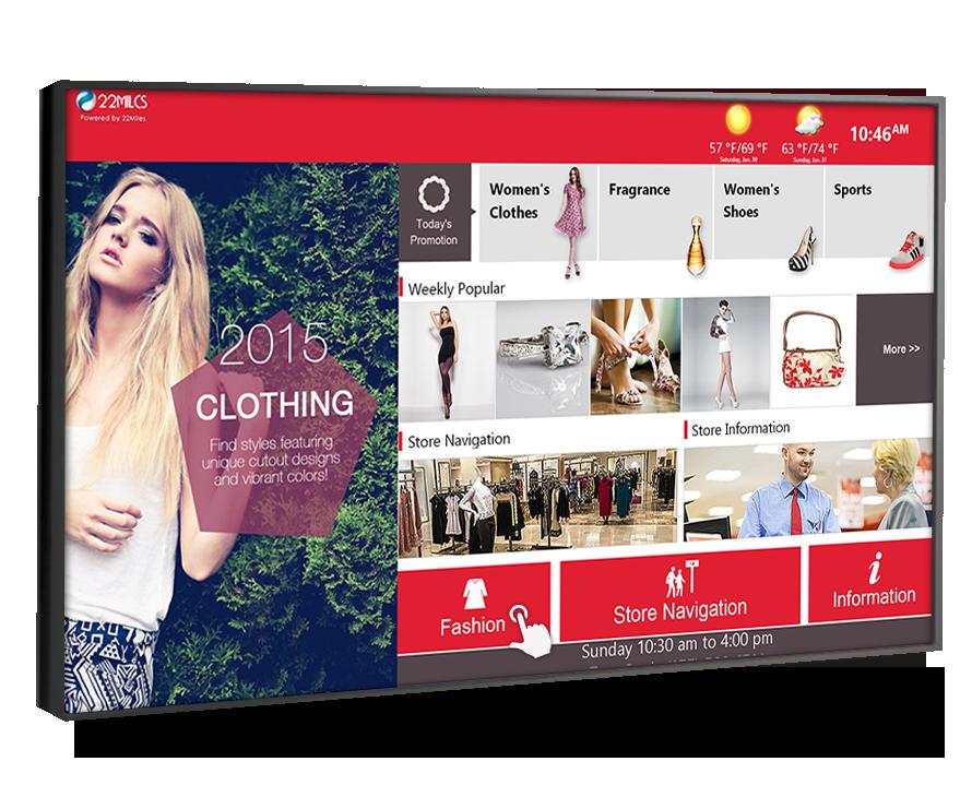 touchscreen retail digital signage