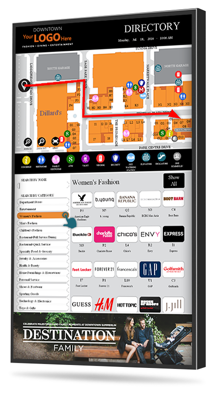Mall digital directory